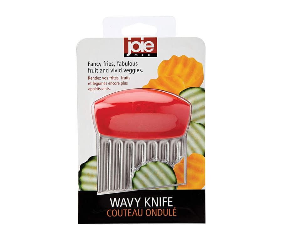Joie Stainless Steel Wavy Slicer Vegetable Garnishing Crinkle Cutter (1, Green)