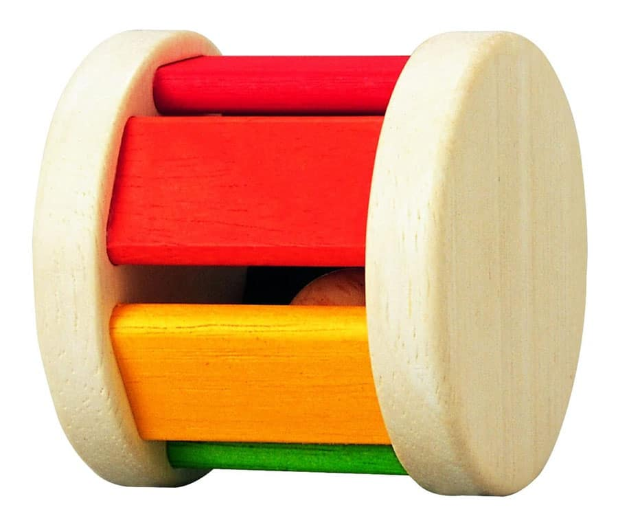 PlanToys Wooden Rainbow Baby Roller with Sound