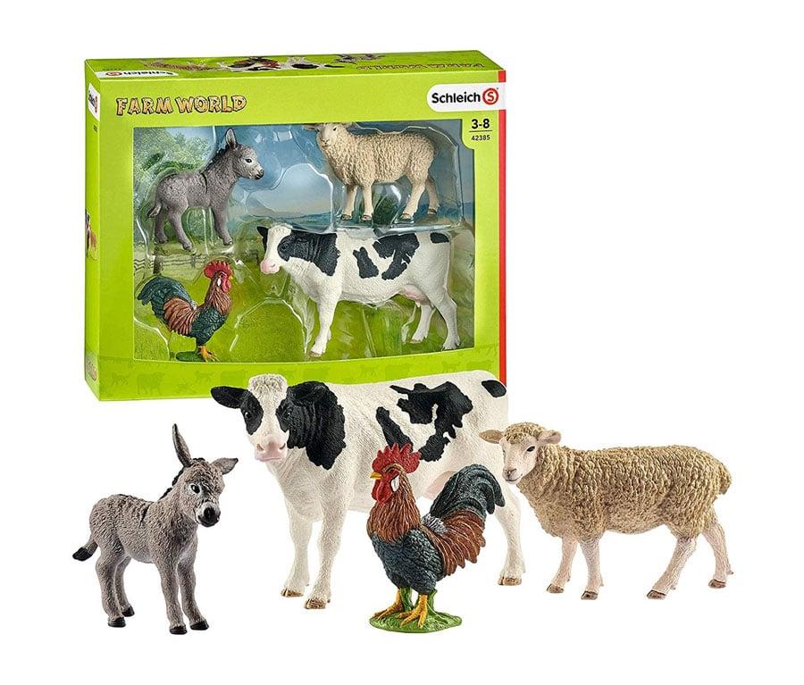 Schleich Farm World 4-Piece Farm Animals Set