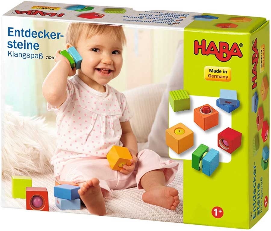 HABA Fun with Sounds Wooden Discovery Blocks